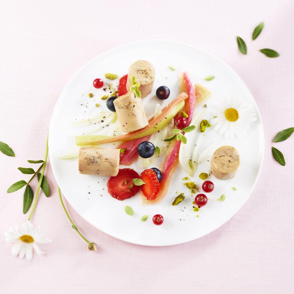 Assiette printani re de foie gras delpeyrat - Decoration foie gras assiette ...