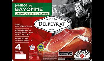 jambon de bayonne grandes tranches delpeyrat