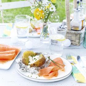 recette saumon fumé et pomme de tarre en papillote