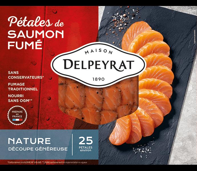 pétales de saumon fumé nature delpeyrat