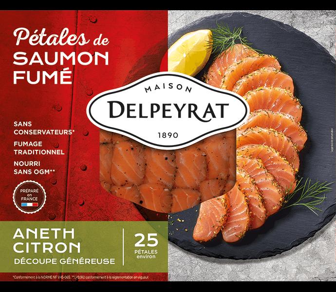 pétales de saumon fumé aneth citron delpeyrat