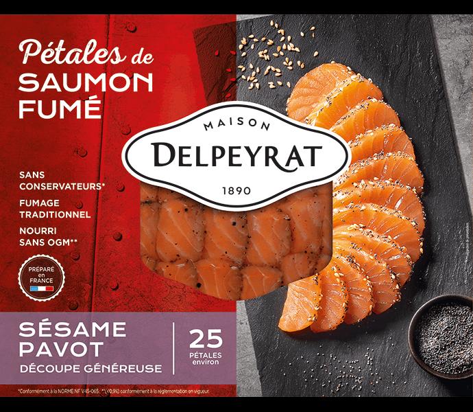 pétales de saumon fumé sésame pavot delpeyrat