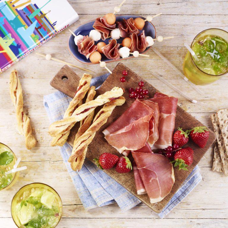 recette aperitif jambon rapide estival