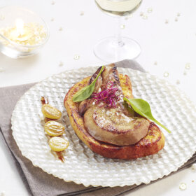 recette brioche perdue au foie gras