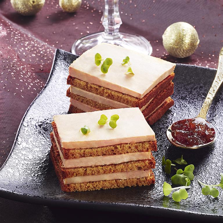 recette opera de foie gras et pain d'épices