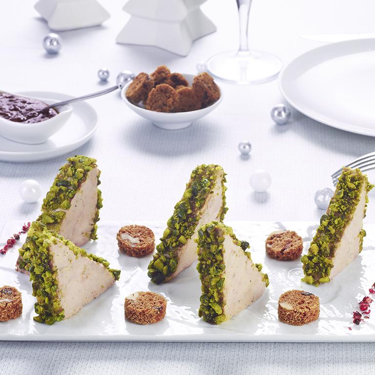 recette plateau foie gras pistache