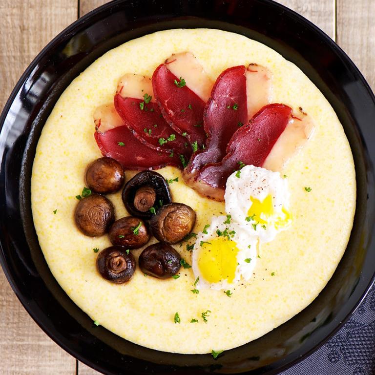 recette polenta au magret de canard et champignons