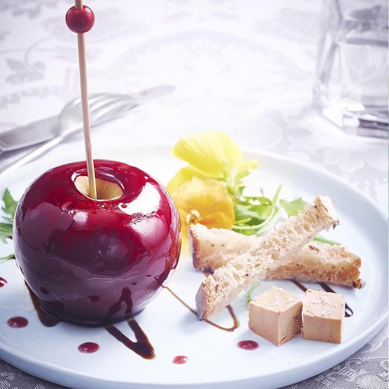 recette pommes d'amour farcies au foie gras