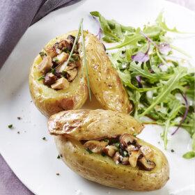 recette pomme de terre farcie au foie gras en surprise