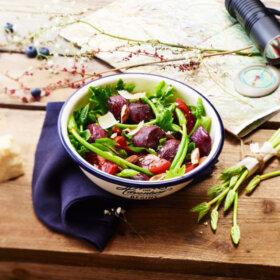 recette salade de gesiers et asperges sauvages
