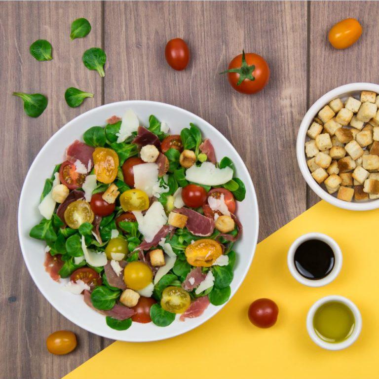 recette salade mache et jambon de bayonne
