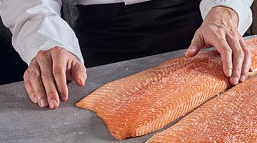 Salaison saumon fumé