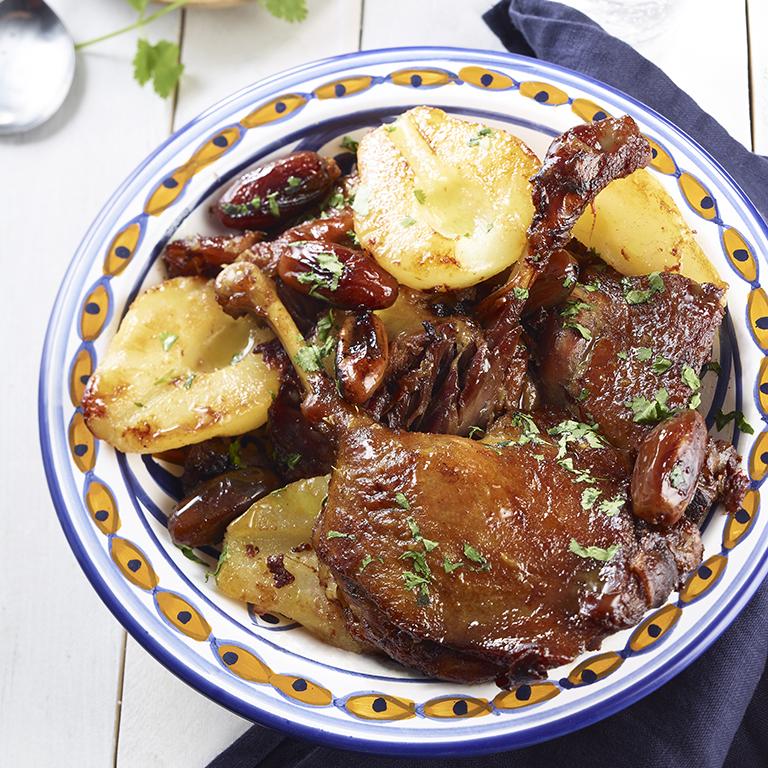 recette tajine de canard aux dattes et aux poires