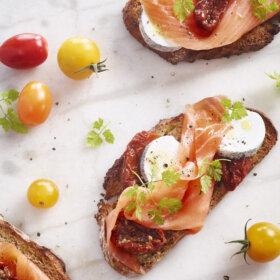 recette tartine de saumon chèvre