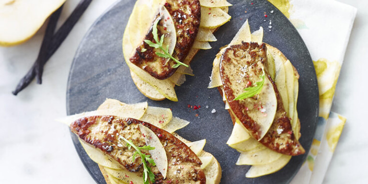 recette tartine foie gras poêlé