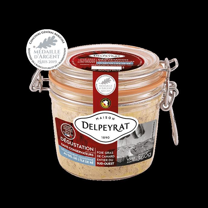 bocal de foie gras dégustation médaillé