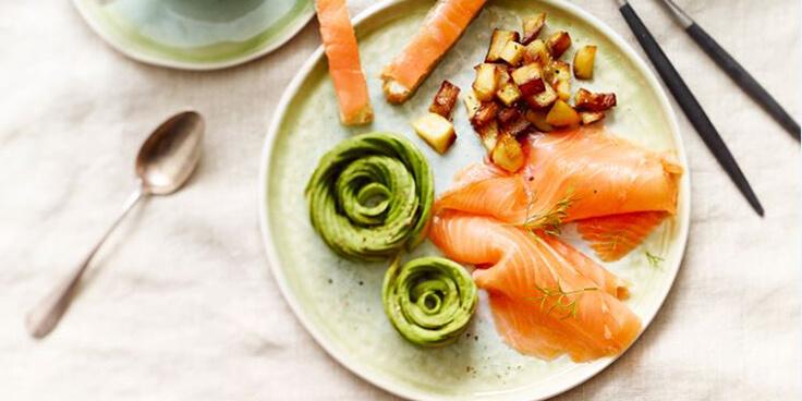 brunch d'hiver au saumon