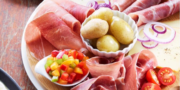 plateau de jambon spécial raclette